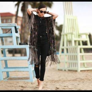 Zara Woman Velvet Kimono No Size